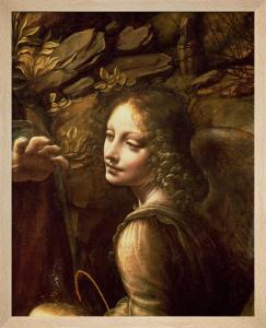 The Virgin of the Rocks (detail of the angel), c.1508 by Leonardo da Vinci