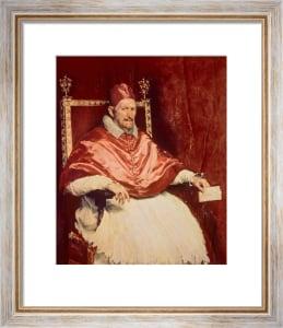 Portrait of Pope Innocent X, 1650 by Diego Rodriguez de Silva Velazquez