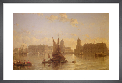 Shipping on the Thames at Greenwich by David Roberts