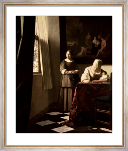 Lady Writing a Letter with her Maid, c.1670 by Johannes Vermeer