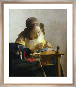 The Lacemaker, 1669 by Johannes Vermeer
