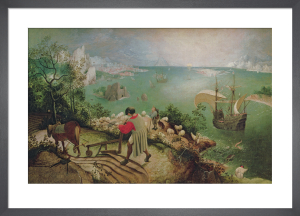 Landscape with the Fall of Icarus, c.1555 by Pieter Brueghel The Elder
