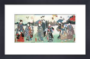 New Year's festival by Utagawa Kunisada