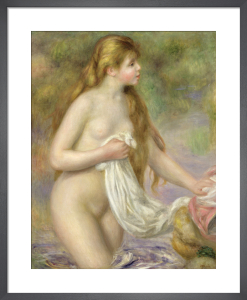 Bather with Long Hair, c.1895 by Pierre Auguste Renoir