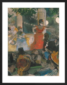 Cafe Concert at Les Ambassadeurs, 1876 by Edgar Degas