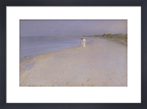 Summer Evening at the South Beach, Skagen, 1893 by Peder Severin Kröyer