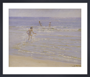 Sunshine at Skagen: Boys Swimming, 1892 (study) by Peder Severin Kröyer