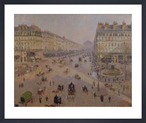 The Avenue de L'Opera Paris, c.1880 by Camille Pissarro