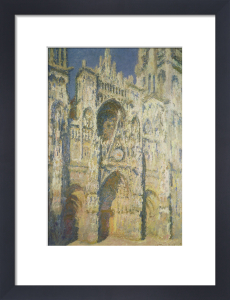 Rouen Cathedral in Full Sunlight: Harmony in Blue by Claude Monet