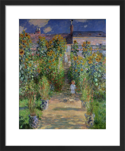 The Artist's Garden at Vetheuil, 1880 by Claude Monet