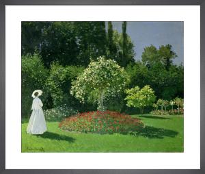 Woman in a Garden, 1867 by Claude Monet