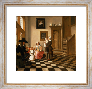 A Family in an Interior by Hendrik Van Der Burgh