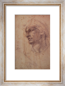 Study of a Head by Michelangelo