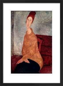 Jeanne Hebuterne in a Yellow Jumper, 1918 by Amedeo Modigliani