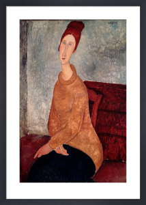 Jeanne Hebuterne in a Yellow Jumper, 1918 by Amedeo Modigliani