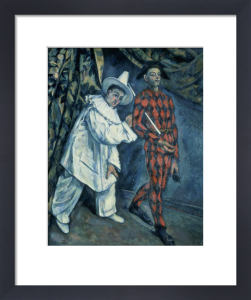 Pierrot and Harlequin, 1888 by Paul Cezanne