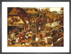 The Flemish Proverbs by Pieter Brueghel The Elder