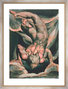 Man Floating Upside Down, 1794 by William Blake