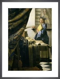 The Artist's Studio, c.1665-6 (detail) by Johannes Vermeer
