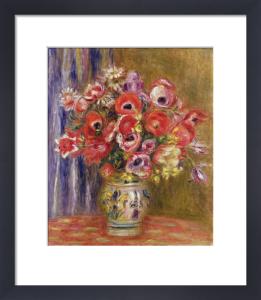 Vase of Tulips and Anemones, c.1895 by Pierre Auguste Renoir