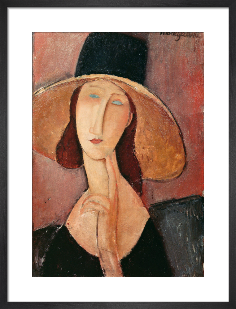 6a4031a0e78 Portrait of Jeanne Hebuterne in a Large Hat