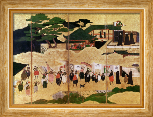 The Arrival of the Portuguese in Japan, Kano School by Art du Japon
