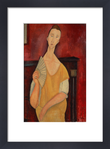 Woman with a Fan, 1919 by Amedeo Modigliani