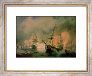 The Battle of Navarino, 20th October 1827 by Ivan Konstantinovich Aivazovsky
