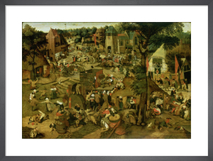 Fair with a Theatrical Performance, 1562 by Pieter Brueghel The Younger