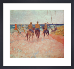 Horseman on the Beach (Hiva Hoa), 1902 by Paul Gauguin