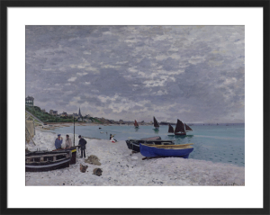 The Beach at Sainte-Adresse, 1867 by Claude Monet