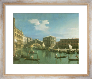The Rialto Bridge, Venice by Giovanni Canaletto