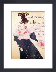 Poster advertising 'La Revue Blanche', 1895 by Henri de Toulouse-Lautrec