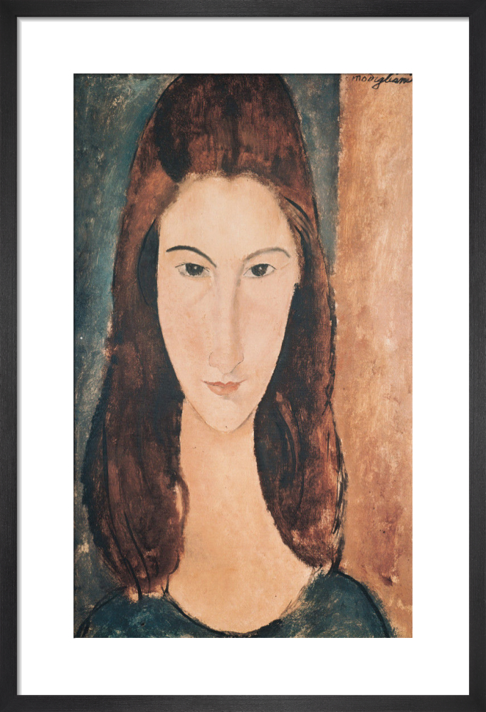 bc2ec4bbadf Portrait of a Young Girl (Jeanne Hebuterne) Art Print by Amedeo Modigliani