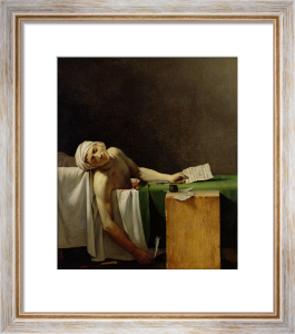 The Death of Marat, after David by Jerome Martin Langlois