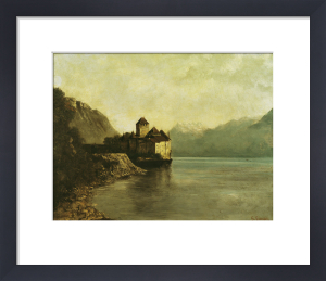 Chateau de Chillon, 1874 by Gustave Courbet