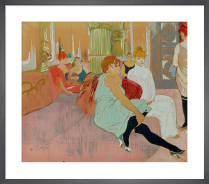 In the Salon at the Rue des Moulins, 1894 by Henri de Toulouse-Lautrec