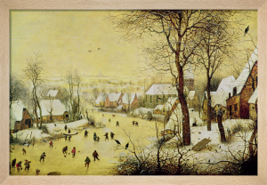Winter Landscape with Skaters and a Bird Trap, 1565 by Pieter Brueghel The Elder
