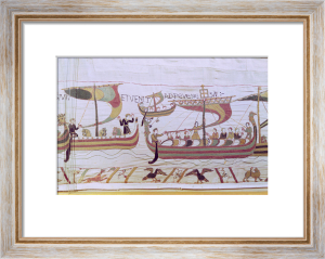 Duke William and his Fleet Cross the Channel to Pevensey, from the Bayeux Tapestry by English or French School