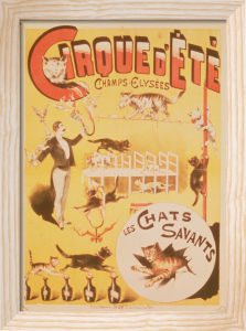 Poster advertising the Cirque d'Ete in the Champs Elysees by French School