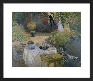 The Luncheon, Monet's garden at Argenteuil, c.1873 by Claude Monet