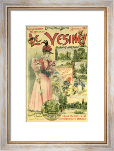 Poster for the Chemins de Fer de l'Ouest to Le Vesinet c.1895 by Albert Robida