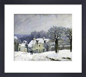 The Place du Chenil at Marly-le-Roi, Snow, 1876 by Alfred Sisley
