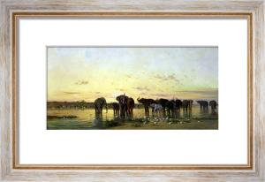 African Elephants by Charles Emile Callande de Tournemine