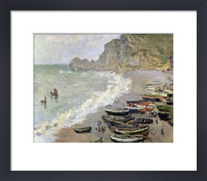 Etretat beach and the Porte d'Amont 1883 by Claude Monet