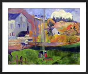 Brittany Landscape: the David Mill, 1894 by Paul Gauguin