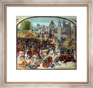 Battle of Neville's Cross from the Hundred Years War 1346 by Anonymous