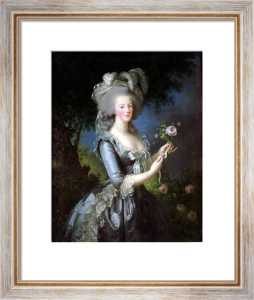Marie Antoinette with a Rose 1783 by Marie Elisabeth Louise Vigee-Lebrun