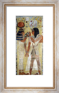 The Goddess Hathor placing the magic collar on Seti I by Egyptian Art