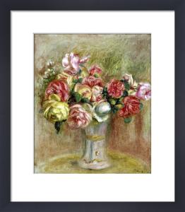 Roses in a Sevres vase by Pierre Auguste Renoir